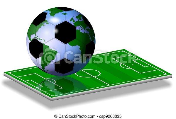 soccer world game - csp9268835