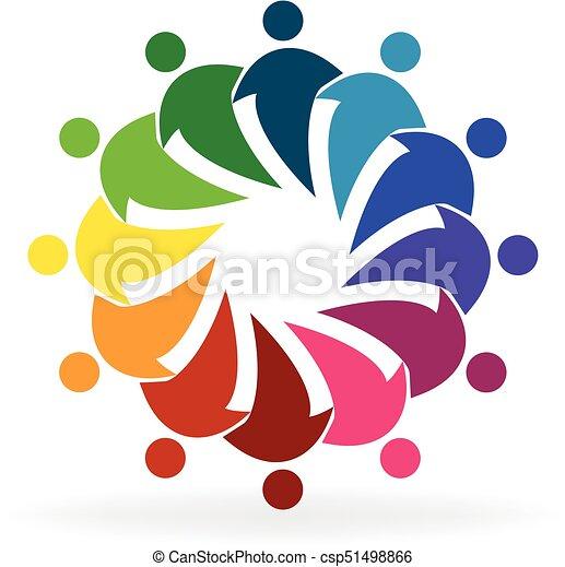 sociaal, logo, mensen, media - csp51498866