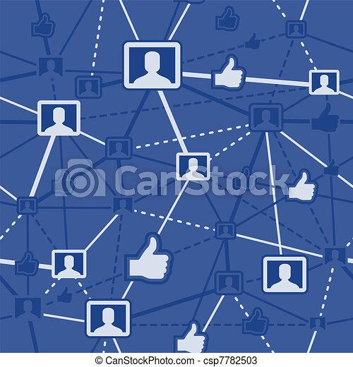 sociaal, netwerk, seamless - csp7782503