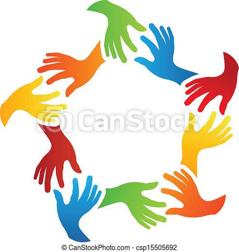 Las manos de los amigos sociales - csp15505692
