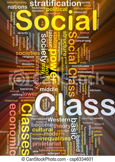 Social class background concept glowing - csp6334601