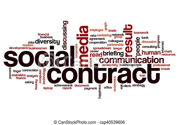 Social Contract Word Cloud Stock Photo  Contract Word