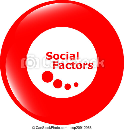 social factors web button, icon isolated on white - csp20912968