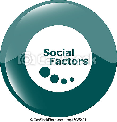 social factors web button, icon isolated on white - csp18935401
