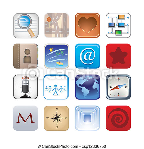 social icon set - csp12836750