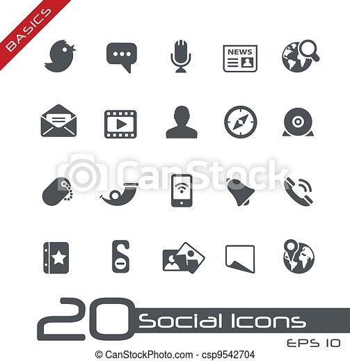 Social Icons // Basics - csp9542704