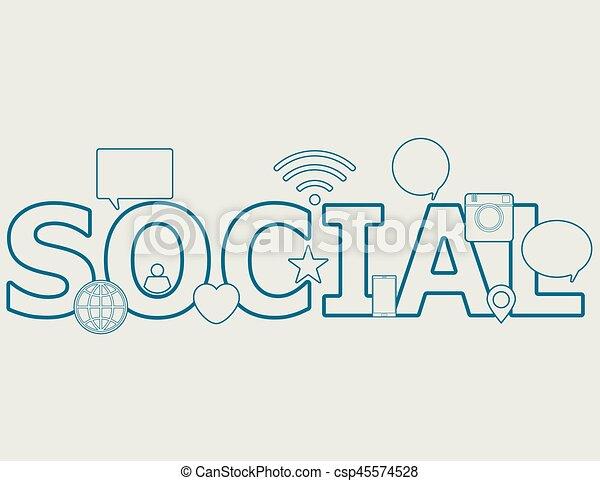 Social - csp45574528