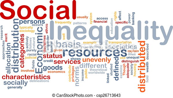 Social inequality wordcloud concept illustration - csp26713643