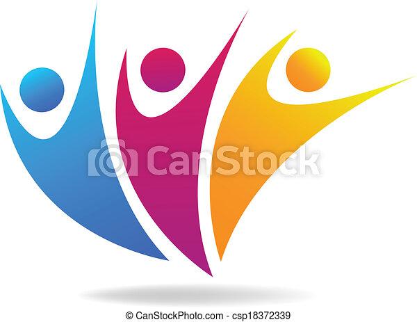 social, média, vecteur, logo, gens - csp18372339