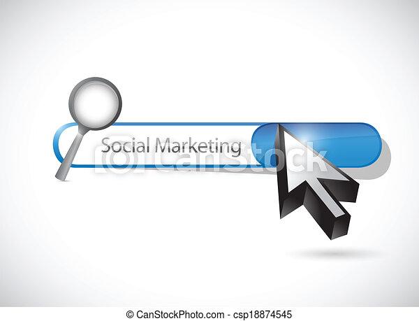 social marketing search bar illustration design - csp18874545