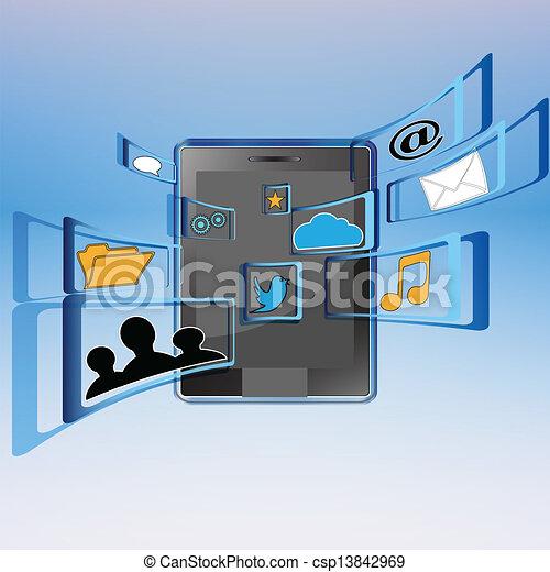Social media - csp13842969
