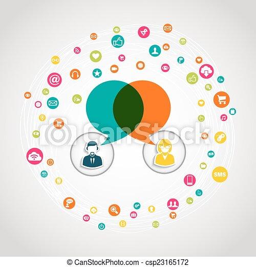 Social media communication concept - csp23165172
