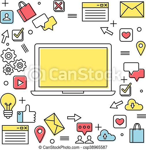 Social media concept illustration - csp38965587