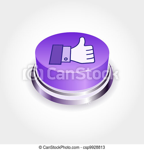 Social media concept.  Like button in perspective. Thumb Up - csp9928813