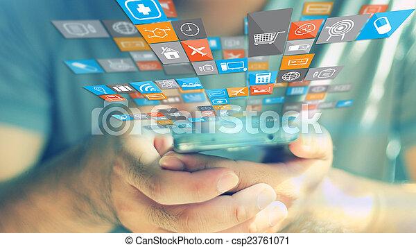 Social media concept. - csp23761071