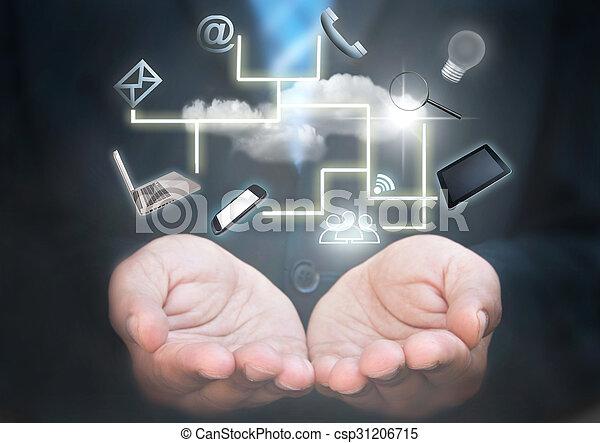 Social media concept - csp31206715