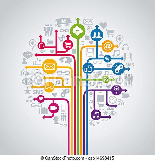 Social media concept tree - csp14698415