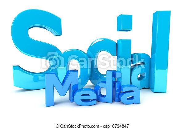 Social media - csp16734847