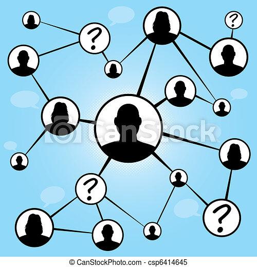 Social Media Friends Chart - csp6414645