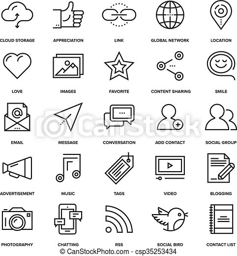 Social Media Icons - csp35253434