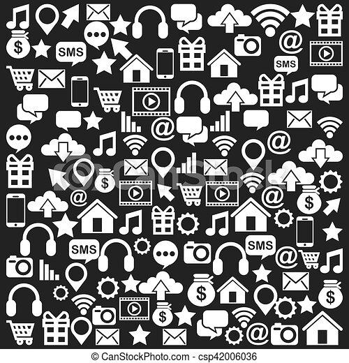 social media icons - csp42006036