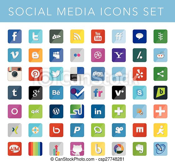 Social Media Icons Set - csp27748281