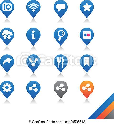 Social media icons vector - Simplicity Series - csp20538513