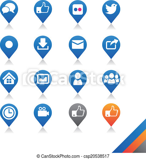 Social media icons vector - Simplicity Series - csp20538517