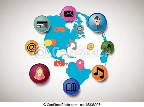 Social media illustration - csp45338998