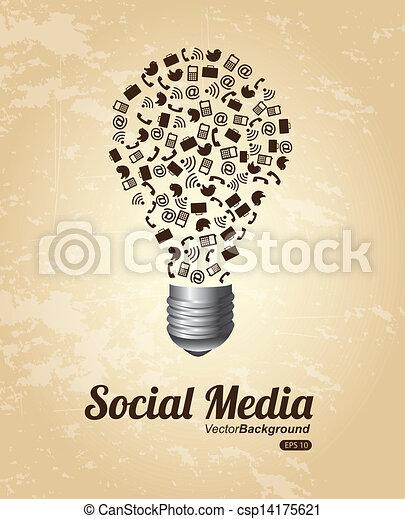 social media - csp14175621