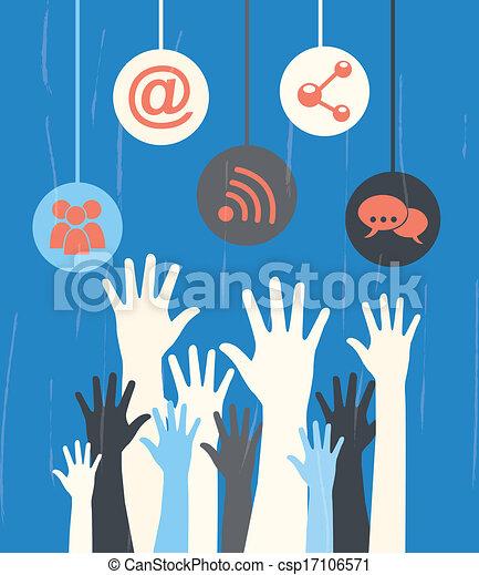 social media - csp17106571