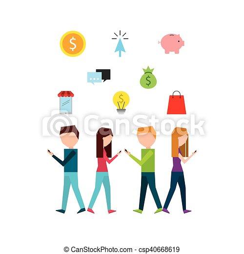 social media marketing business vector illustration design vector rh canstockphoto co uk marketing clipart free marketing mix clipart