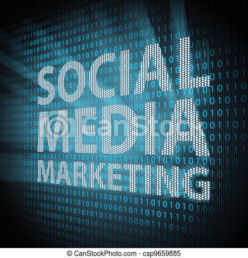 Social Media Marketing concept - csp9659885