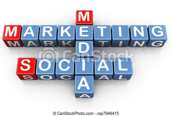 Social media marketing - csp7946415