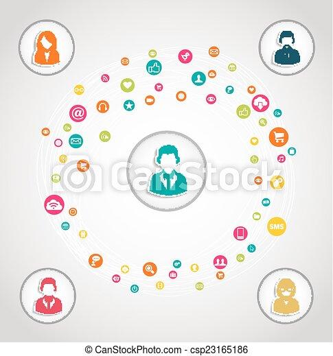 Social media network concept - csp23165186