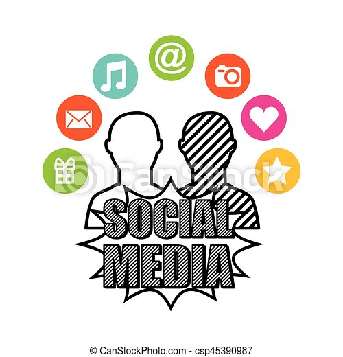 social media network icons - csp45390987