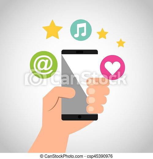 social media network icons - csp45390976