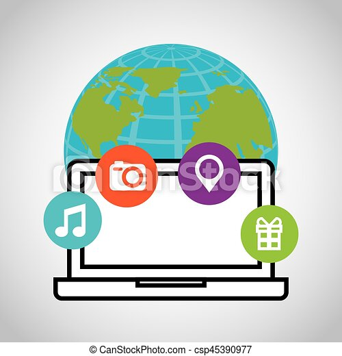 social media network icons - csp45390977