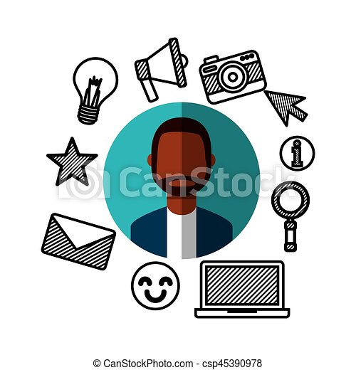 social media network icons - csp45390978