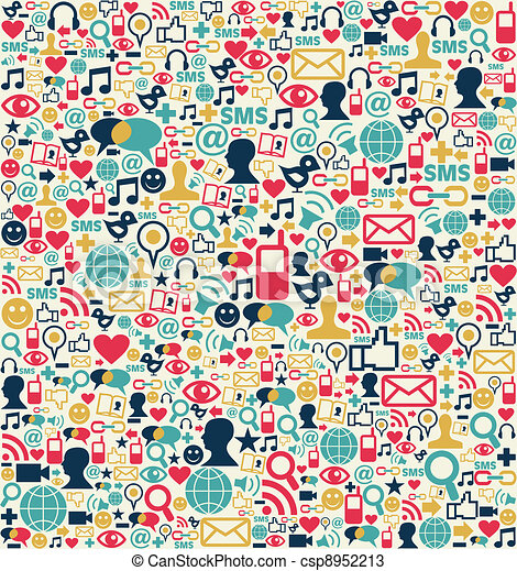 Social media network icons pattern - csp8952213