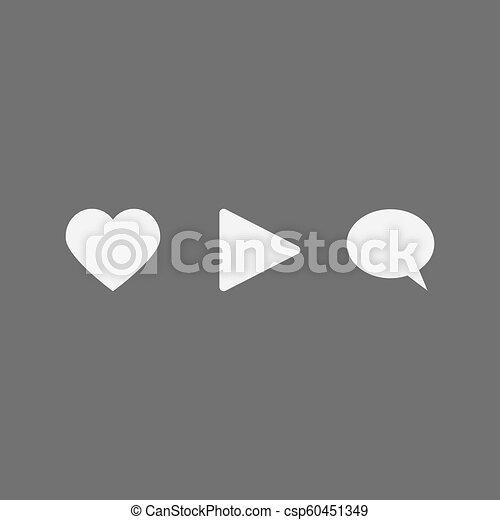 Social media network icons set - csp60451349