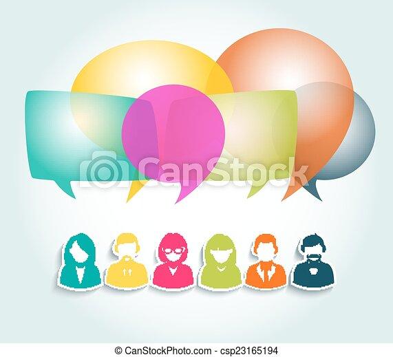 Social media network illustration - csp23165194