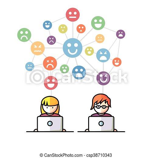 Social Media network people - csp38710343