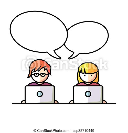 Social Media network people - csp38710449
