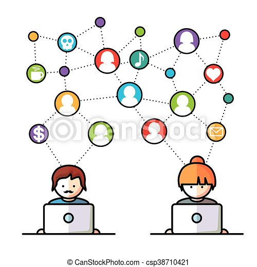 Social Media network people - csp38710421