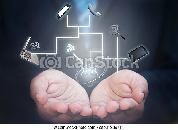 Social media network - csp31989711