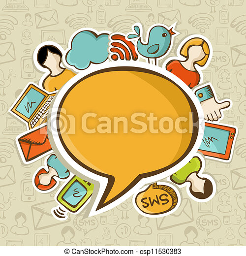 Social media networks communication concept - csp11530383