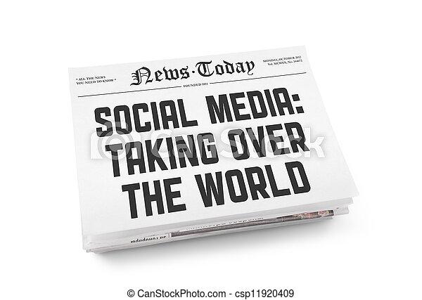 Social media newspaper concept - csp11920409