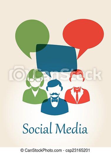 Social media people concept - csp23165201