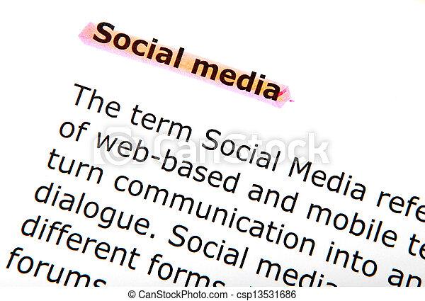 social media - csp13531686